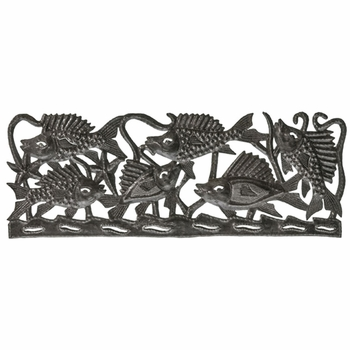 Horizontal Fish Cutout Plaque