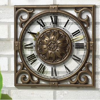 Iron Gate Outdoor Garden Clock