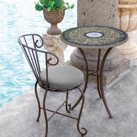 Knf Designs 24 Quot Mosaic Bistro Set For 2 Iron Accents