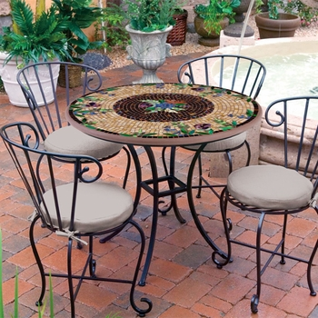 Iron & Mosaic Patio Furniture