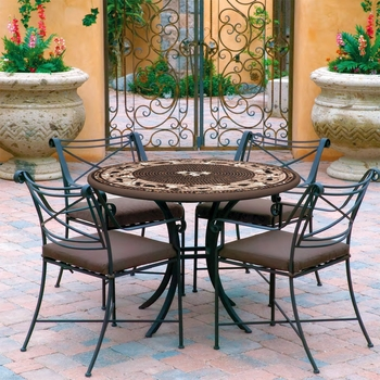 "42"" Mosaic Patio Set for 4"