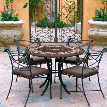 "48"" Mosaic Patio Set for 6"