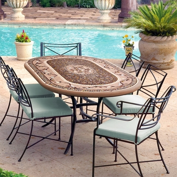 "72"" Mosaic Patio Set for 6"
