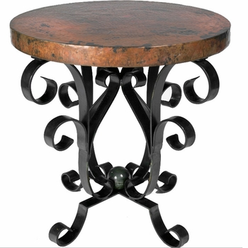 Iron Scroll Accent Table Base