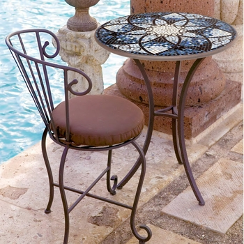 Iron & Mosaic Patio Table - 30""