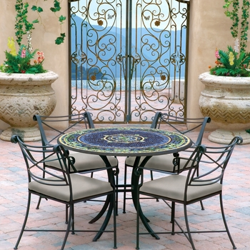 Iron & Mosaic Patio Table - 42""