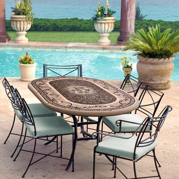 Mosaic Patio Table - 84x48
