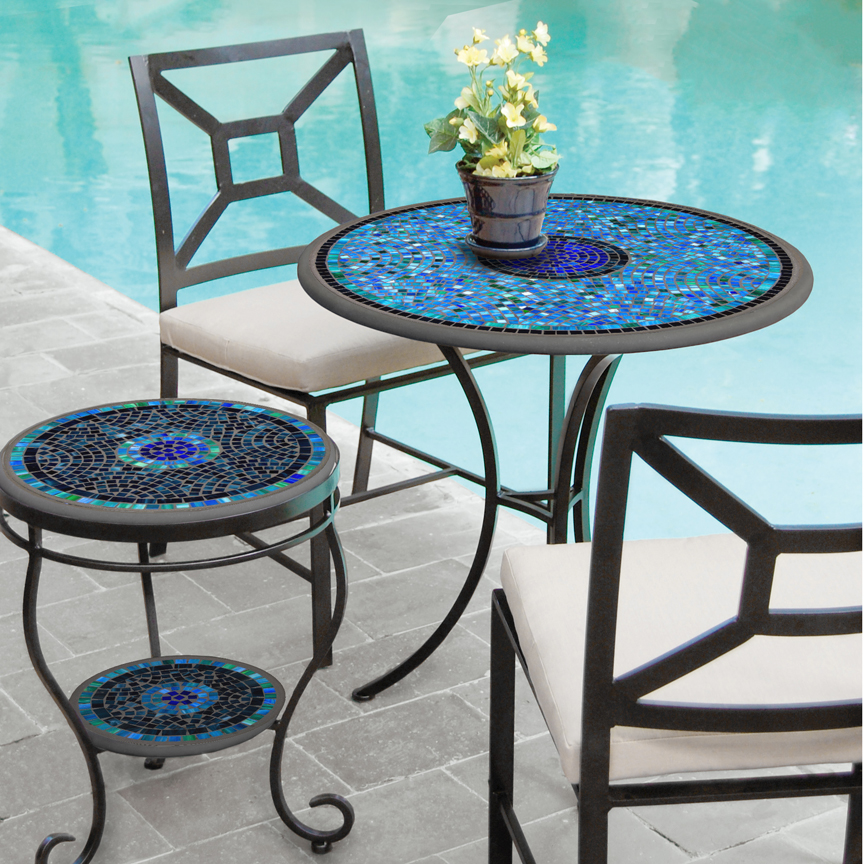 Knf Designs Iron Amp Mosaic Patio Table 30 Quot Iron Accents