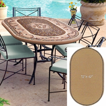 """Mosaic Table Top - 72"""" x 42"""" Oval"""