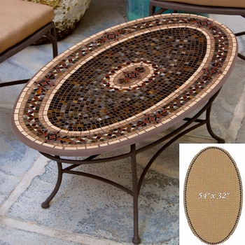 """Mosaic Table Top - 54"""" x 32"""" Oval"""