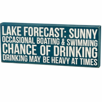 Lake Forecast - Box Sign