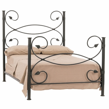 Leaf Wrought Iron Bed