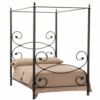 Leaf Iron Canopy Bed