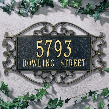 Lewis Wall Address Plaque