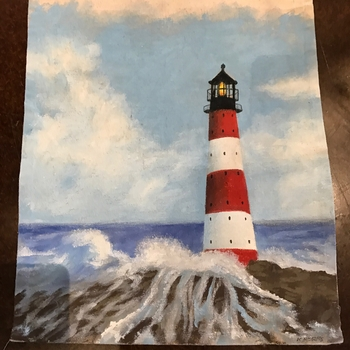 Light House Painted Runner