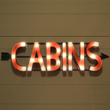 Lighted Cabin Sign