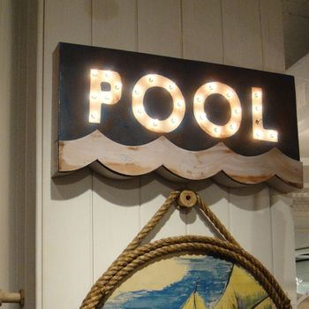 Lighted Pool Sign