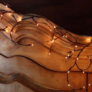 Lighted Willow Garland - Battery