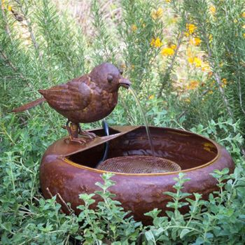 Little Bird Folk Art Fountain