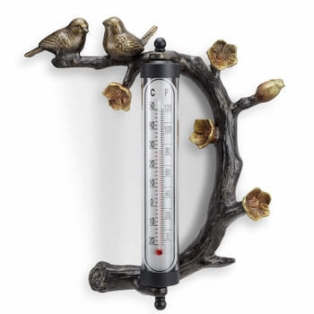 Lovebird Wall Mount Thermometer