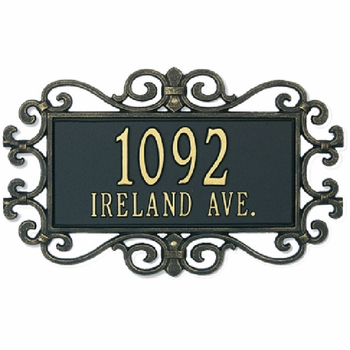 Mears Wall Address Plaque