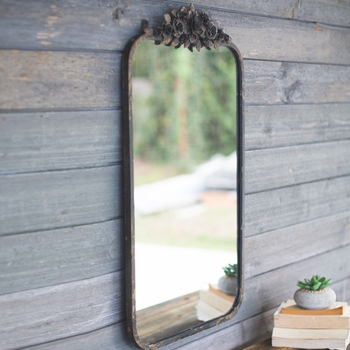 Floral Design Wall Mirror