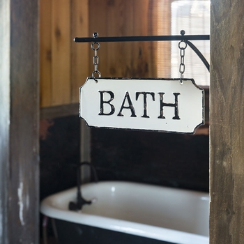 Hanging Metal Bath Sign