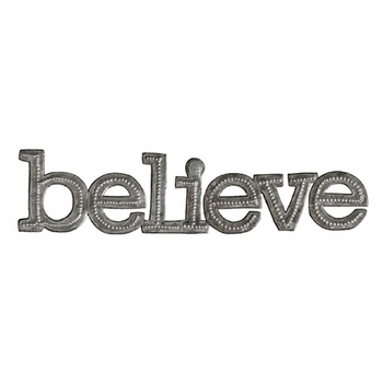Metal Believe Wall Plaque