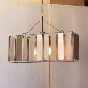 Metal Chime Rectangular Pendant
