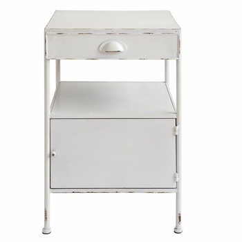 Metal Side Table w/ Drawer