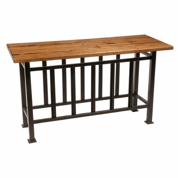 Mission Console Table w/ Top