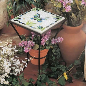 Mosaic Plant Stand - 14""