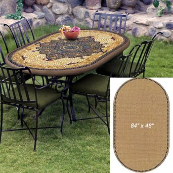 """Mosaic Table Top - 84"""" x 48"""" Oval"""