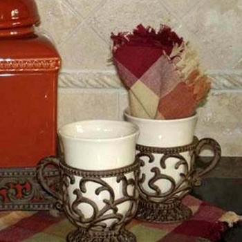 Mug w/ Metal Holder (Set-4)