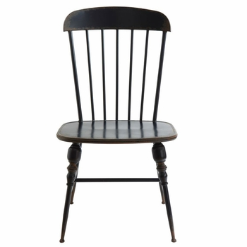 Navy Metal Farm Chairs (Set-2)