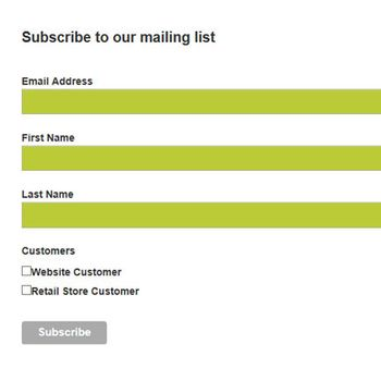 Newsletter Signup - Retail Store