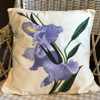 Orchid Handpainted Pillow -CS