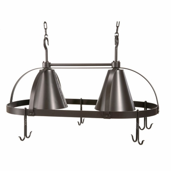 Oval Lighted Pot Rack