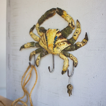 Painted Metal Crab Coat Rack