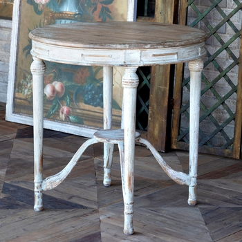 Painted Petite Round Table