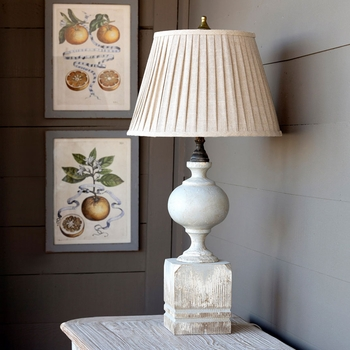 Painted Post Lamp