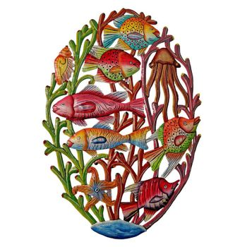 Painted Sea Life Wall Plaque