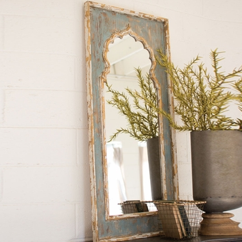 Painted Wooden Mirror