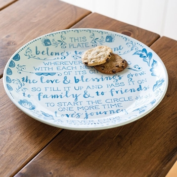 Pass It On - Blessing Plate