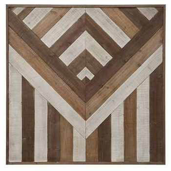 Pieced Wood Wall Hanging