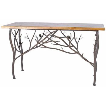 Pine Console Table with Top
