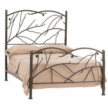 Pine Wrought Iron Bed