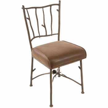 Pine Hand Forged Side Chair