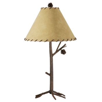 Pine Forged Iron Table Lamp