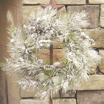 Pine Wreath w/ Cones -CS